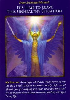 Archangel Michael has heard your pleas for help, and his answer comes to you through this card... (click image to keep reading) Angel Arcangel, Guardian Angels, San Miguel, Archangel Michael, Michael Angel, Affirmations, Arch Angels, Archangel Prayers, Angel Quotes