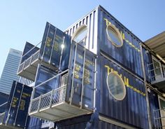 Very awesome idea. This is a great design for office buildings, too.   shipping container classrooms in london, tower hamlets college