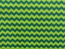 Mats Chevron kiwi grün Baumwolljersey Öko-Tex