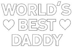 Father's Day heart belongs to Daddy coloring page poster