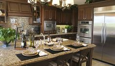 I want it!!!! Santa Cecilia granite countertops in the kitchen