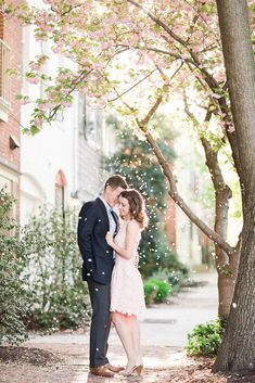 If you want your engagement shoot to be a little fancier this is a great choice! Her dress is to die for!