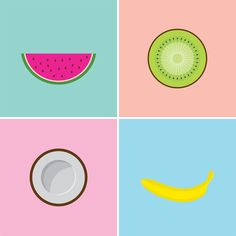 minimalist fruit prints by strange fruit | amy zhang design