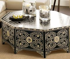 painted coffee table - Google Search