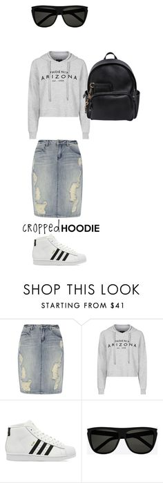 """lazy Saturday"" by liekejongman on Polyvore featuring Dorothy Perkins, Topshop, adidas, Yves Saint Laurent and Dsquared2"