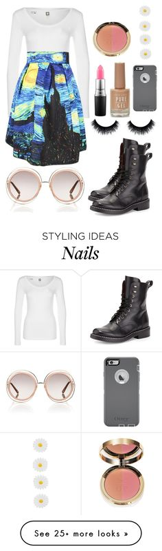 """Untitled #249"" by cassie-crazycatz on Polyvore featuring G-Star, rag & bone, MAC Cosmetics, OtterBox, Chloé and Accessorize"