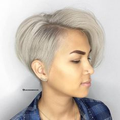 Asymmetrical Ash Blonde Pixie Bob
