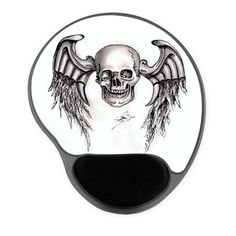 Skull Wings Re-Touch Gel Mousepad