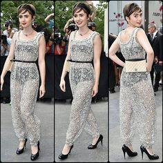 #LilyCollins #jumpsuit #playsuit #headband #seethrough #boots #highheels #supermodel #cute #bob #fashion #style #celebrity #denim #hollywood #star #lovely #beautiful #Love #shoes #skinnyjeans #pretty#stylish #lookbook #look #ootd #outfit #heels #shoes... - Celebrity Fashion