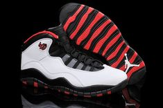 """f6d5b7b3f32eee Find New Air Jordan 10 Retro """"Chicago"""" 45 PE White Varsity Red-Black Online  online or in Yeezyboost. Shop Top Brands and the latest styles New Air  Jordan 10 ..."""