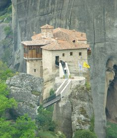 Tourists visiting the amazing monasteries.