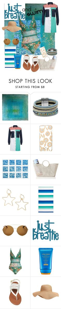 """""""Just breathe and SWIM🐠"""" by mdfletch ❤ liked on Polyvore featuring Design Lab, Maje, Kate Spade, William Stafford, Mark & Graham, Sky, Givenchy, Zimmermann, Shiseido and Old Navy"""