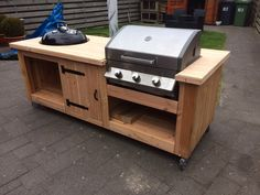 Mijn meubel(tje) – home acssesories Small Outdoor Kitchens, Outdoor Kitchen Patio, Outdoor Kitchen Design, Outdoor Grill Area, Outdoor Grill Station, Patio Storage, Grill Table, Built In Bbq, Backyard Bbq