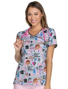be0fedd57c2 Find printed scrubs and nursing uniforms that are as unique as you are!  Find fun, festive, and flattering tops!