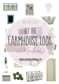 Want to decorate like Joanna Gaines ? Create your Fixer Upper or Farmhouse style on a budget from Michaels!