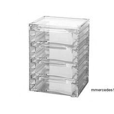 Countertop 4-Drawer Beauty Cosmetic Jewelry Makeup Storage Organizer Rack NEW