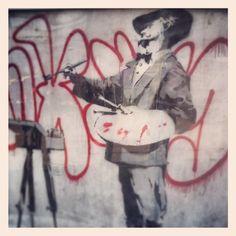 Bansky  #london #portobello  #uk#cool #chiarabiasi#maisonespin #fallwinter13 #fashionblogger#womancollection #lovely #MadewithLove #romanticstyle #milano#clothing #cool