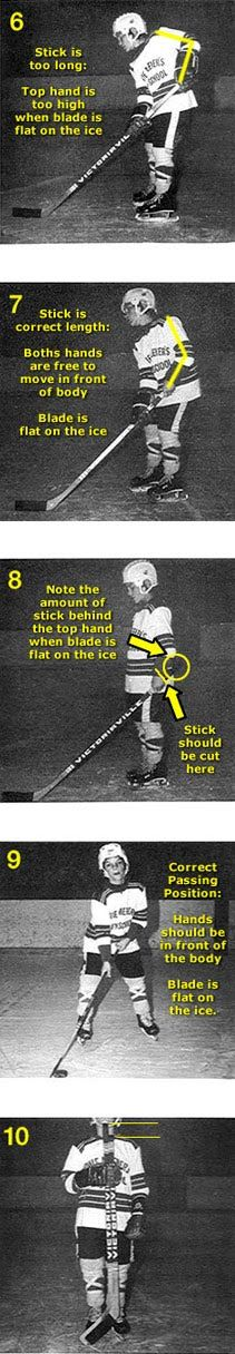 The truth about cutting kids hockey sticks to the correct length