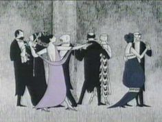 PBS - Mystery Intro - Edward Gorey The woman swooning on the rooftop is my favorite. Edward Gorey, Masterpiece Mystery, Masterpiece Theater, Tim Burton, Pbs Mystery, Best Mysteries, Bbc Tv, Agatha Christie, Favorite Tv Shows