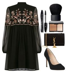 """""""Untitled #986"""" by jelena-678 ❤ liked on Polyvore featuring Warehouse, L.K.Bennett, Yves Saint Laurent, Lancôme and NARS Cosmetics"""