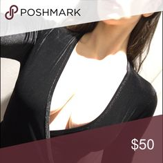 American apparel velvet wraparound top Long sleeve , brand new . American Apparel Tops Blouses