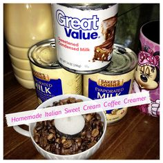 Homemade Italian Sweet Creme Coffee Creamer....  I go through this stuff by the bucketful....yay for copycat recipes!!!  :)
