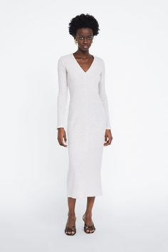 feff472a85 Image 1 of RIBBED DRESS from Zara Vestido Canale, Zara United States, Lace  Skirt
