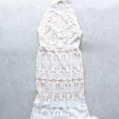 everlasting moments fishtail maxi dress - ivory - shophearts - 1