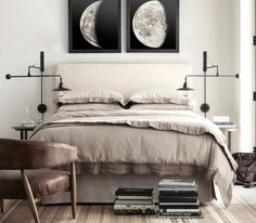 Vintage Moon Phase Prints from Restoration Hardware | Originally from Atlas Photographique de la Lune