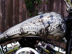 Image detail for -. Custom Paint Motorcycle, Motorcycle Tank, Custom Harleys, Harley Davidson, Clouds, Detail, Gallery, Spring, Hot
