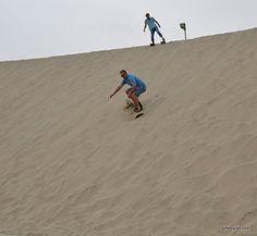 Sand boarding in Qatar