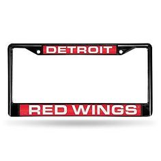 Detroit Red Wings Official NHL Metal License Plate Frame