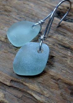 Sea Glass Jewelry - Beach Glass Wedding Earrings - THE PRINCESS BRIDE.