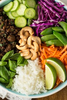 30 Minute Thai Basil Beef Bowls - an easy, Thai-inspired meal in a bowl that's fresh, vibrant, healthy and super delicious!