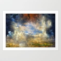 Eye Of The Storm - Abstract Realism Art Print by Zeana Romanovna Fine Art  - $22.88