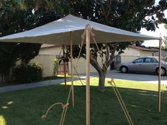 Canvas Sun Shade SCA by InLittleHands on Etsy, $145.00 -- this is such a great option for day events and folks just starting out. Awesomesauce!