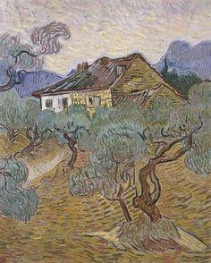 White Cottage Among the Olive Trees - Vincent... - Cozyhuarique