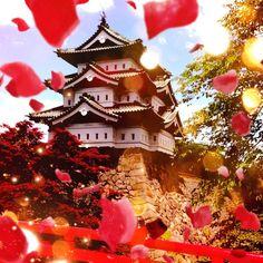 青森県の弘前城をcameranで蜷川実花テイストに♪