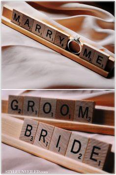 Word Nerds Unite: Planning a SCRABBLE-Themed Wedding