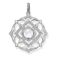 The Sahasrara crown chakra symbolises consciousness, spirituality and supreme awareness. #THOMASSABO pendant crafted from 925 Sterling silver with milky quartz and white #diamonds.