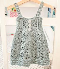 Instantánea descargar - vestido del ganchillo patrón (archivo pdf) - brisa vestido (tallas hasta 10 años)