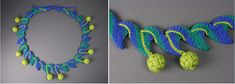 Fiber Artist, Barbara J. Walker: Teaching and Speaking internationally. Sharing fiber art skills like weaving, ply-splitting, and more. Macrame Necklace, Crochet Necklace, Jewelry Knots, Jewellery, Fiber Art, Photo Galleries, Braids, Weaving, Gallery