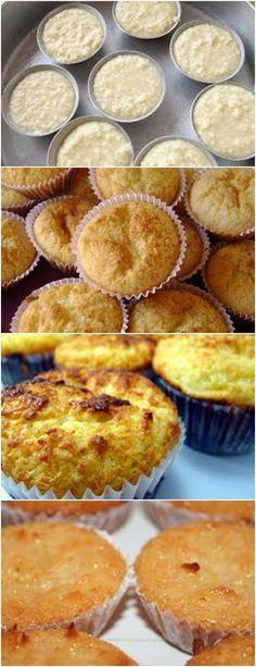 RECEITA DE QUEIJADINHA MINHA VÓ QUEM ENSINOU..AMOO!! VEJA AQUI>>>Em um recipiente bata os ovos até que se misturem (não precisa aumentar o volume nem espumar, é só unificar a gema com a clara). Em seguida junte o leite condensado e bata até ficar homogêneo #receita#bolo#torta#doce#sobremesa#aniversario#pudim#mousse#pave#Cheesecake#chocolate#confeitaria Muffins, Cookie Company, Sweet Recipes, Mousse, Deserts, Food And Drink, Pizza, Low Carb, Cooking Recipes