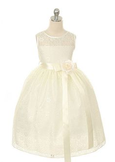 in white! Ivory Lace Flower Girl Dress.... my daughter will wesr this in my wedding