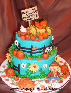 Blue Harvest Cake - Cake by Peggy Does Cake