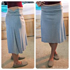 Sewing Skirts The Most Comfortable Skirt You'll Ever Wear: A Tutorial - This skirt really is the most comfortable thing you'll ever wear, and whats great about it is it's soooo easy to make! There's only two parts to it; the band, and the skirt. It wi… Diy Clothing, Sewing Clothes, Clothing Patterns, Sewing Patterns, Sewing Coat, Skirt Patterns, Coat Patterns, Blouse Patterns, Doll Clothes