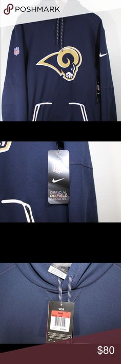 Nike Los Angeles Rams On field hoodie sweatshirt Brand new with tags, Retail $125  Official Nike Product Guaranteed Nike Jackets & Coats Performance Jackets