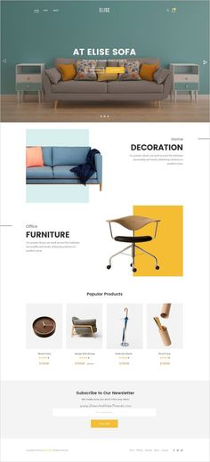 Ideas furniture website layout inspiration for 2019 Design Websites, Ecommerce Web Design, Web Ui Design, Website Design Inspiration, Layout Inspiration, Layout Design, Website Design Layout, Homepage Layout, Web Layout
