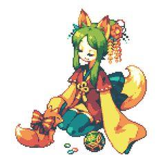 「狐姉妹」/「うるち」のイラスト [pixiv]
