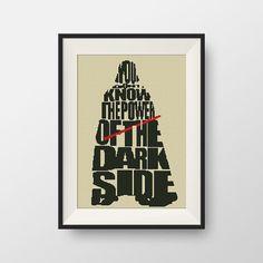 Star Wars Cross stitch pattern, BOGO, Quote cross stitch,  PDF counted cross stitch pattern - Darth Vader, P079